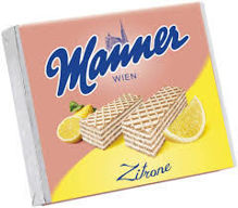 Picture of Manner Schnitten Neapolitan Wafers - Lemon/Zitrone (pack of 1)