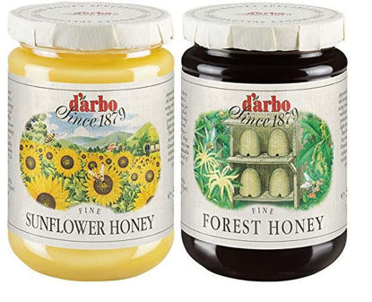 Picture of D'Arbo two-jar honey bundle: Sonnenblumenhonig & Waldhonig