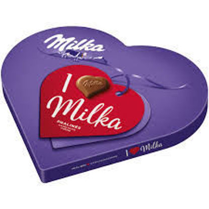 Picture of Milka I Love Milka Pralines Haselnusscreme 44g chocolates (1 box)
