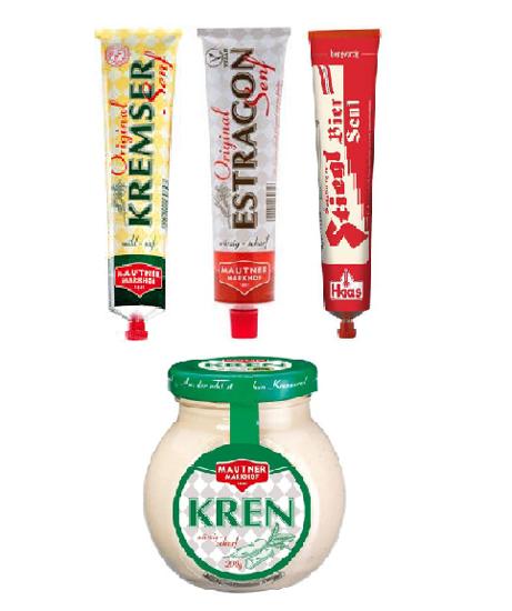 Picture of Austrian Senf und Kren Condiment Gift Bundle - Mustard and Horseradish