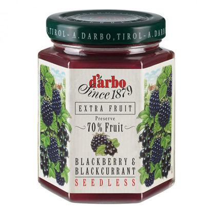 Picture of D'Arbo Blackberry & Blackcurrant Seedless Preserve 70% Fruit 200g