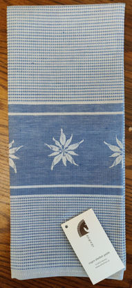 Picture of Eugen Übelhör Waffeltuch Edelweiß Mittelblau - Blue Edelweiss Kitchen Cloth