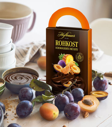 Picture of Hofbauer Rohkost Schokofrüchte - Chocolate-covered fruits 250g