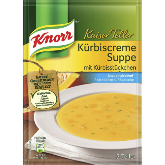 Knorr Kaiserteller  Kürbiscremesuppe - Austrian Pumpkin Cream Soup UK