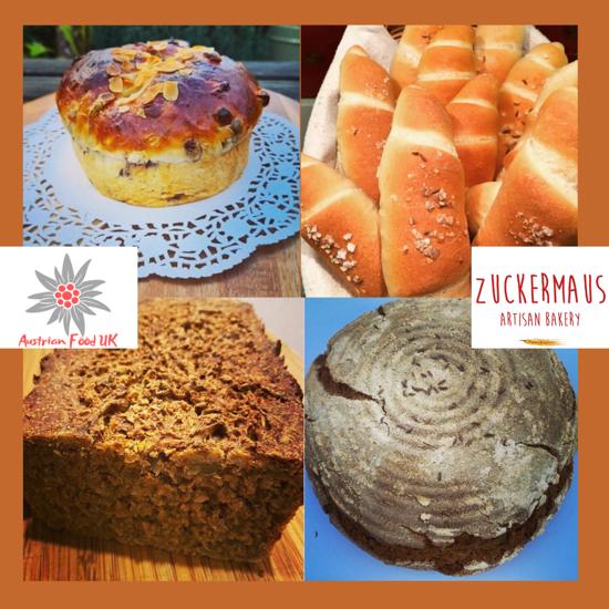 Picture of Austrian bread basket by Zuckermaus - 1.75kg of Bauernbrot, Kletzenbrot, Salzstangerl and more!